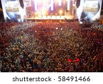 big crowd before stage at a... | Shutterstock . vector #58491466