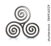3d illustration of silver... | Shutterstock . vector #584916529