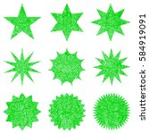 collection retro stars shapes.... | Shutterstock .eps vector #584919091