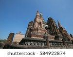 sukhothai historical park... | Shutterstock . vector #584922874