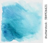 blue heaven grunge watercolor... | Shutterstock . vector #584926621
