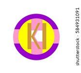 initial letter ki gold color... | Shutterstock .eps vector #584931091