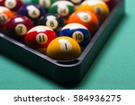 billiard balls arranged in a... | Shutterstock . vector #584936275