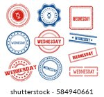 set of various wednesday stamps | Shutterstock .eps vector #584940661