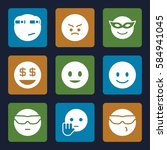 emotions icons set. set of 9... | Shutterstock .eps vector #584941045