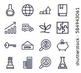 startup icons set. set of 16... | Shutterstock .eps vector #584943061