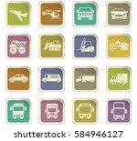 transport vector icons for user ...   Shutterstock .eps vector #584946127