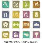 sport vector icons for user... | Shutterstock .eps vector #584946181
