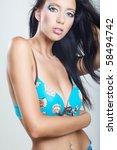 beautiful brunette | Shutterstock . vector #58494742