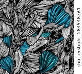 vector seamless wave doodle... | Shutterstock .eps vector #584948761