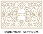 vector trendy linear frame with ... | Shutterstock .eps vector #584949925