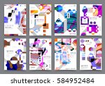 abstract background  brochure... | Shutterstock .eps vector #584952484
