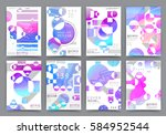 abstract background  brochure... | Shutterstock .eps vector #584952544