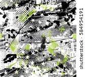 seamless grunge geometric... | Shutterstock .eps vector #584954191
