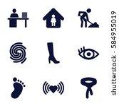human icons set. set of 9 human ...
