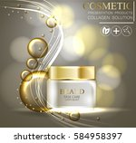 essense and a cream for skin... | Shutterstock .eps vector #584958397