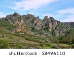 pinnacles national monument in... | Shutterstock . vector #58496110