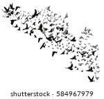 vector isolated silhouette of... | Shutterstock .eps vector #584967979