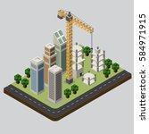 industrial based on isometric... | Shutterstock .eps vector #584971915