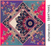 unique ornamental pattern in... | Shutterstock .eps vector #584974441