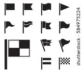 flag vector icon set isolated... | Shutterstock .eps vector #584975224
