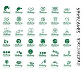 bakery icons set isolated on... | Shutterstock .eps vector #584976469