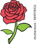 rose red   Shutterstock .eps vector #584978521