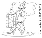 Coloring Book Page. Circus...
