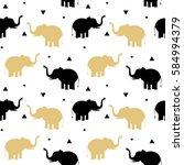 Cute Black And Gold Elephants...