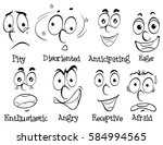 diffferent facial expressions... | Shutterstock .eps vector #584994565