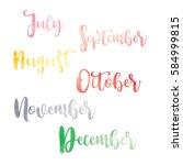 water color brush handwritten... | Shutterstock .eps vector #584999815