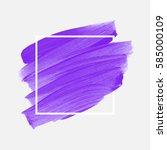 logo brush painted watercolor... | Shutterstock .eps vector #585000109