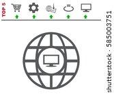 website icon vector flat design ... | Shutterstock .eps vector #585003751