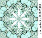 modern floral ornament. mandala ... | Shutterstock . vector #585005134