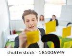creative student brainstorming... | Shutterstock . vector #585006949