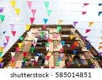 barcelona  spain  europe  ... | Shutterstock . vector #585014851