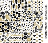 hand crafted seamless pattern... | Shutterstock .eps vector #585030331