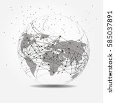 global network connection.... | Shutterstock .eps vector #585037891