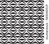 seamless black and white vector ... | Shutterstock .eps vector #585040519