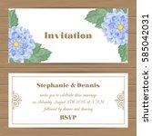 wedding invitation  save the... | Shutterstock .eps vector #585042031