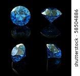 round swiss blue topaz isolated ... | Shutterstock . vector #58504886