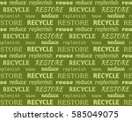 green eco seamless typographic... | Shutterstock .eps vector #585049075