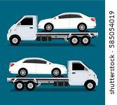 auto truck vector | Shutterstock .eps vector #585054019