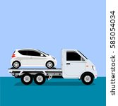 auto truck vector | Shutterstock .eps vector #585054034