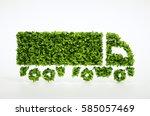 ecology logistics concept. 3d... | Shutterstock . vector #585057469