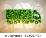 Ecology Logistics Concept. 3d...
