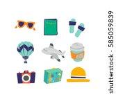 travel illustration   Shutterstock .eps vector #585059839