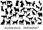 vector isolated collection of... | Shutterstock .eps vector #585060067