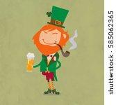 character cartoon happy... | Shutterstock .eps vector #585062365