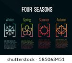 4 seasons icon sign in border... | Shutterstock .eps vector #585063451